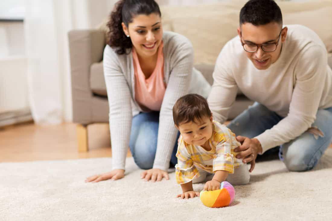 infant with parents